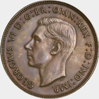 1939 Proof Penny obverse