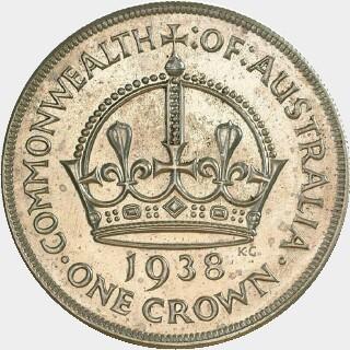 1938 Proof Crown reverse
