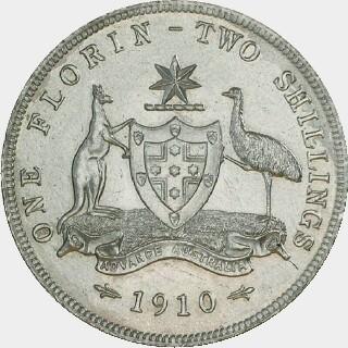 1910 Specimen Florin reverse