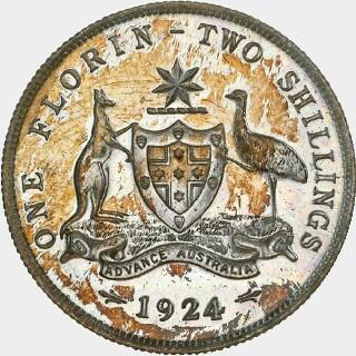 1924 Proof Florin reverse
