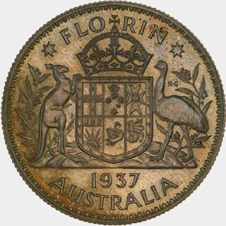1937 Uniface Pattern Florin reverse