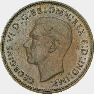 1945 Pattern (.500 Silver) Florin obverse