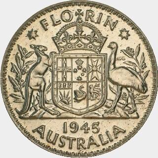1945 Proof Florin reverse