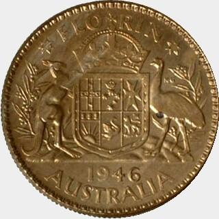 1946 Pattern in Cupro-Nickel Florin reverse