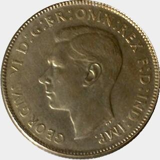 1946 Pattern in Cupro-Nickel Florin obverse