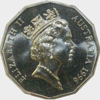 1996  Fifty Cent obverse