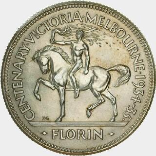 1934-35 Specimen Florin reverse
