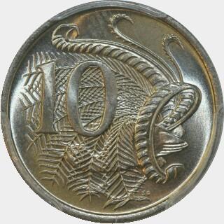 1973  Ten Cent reverse