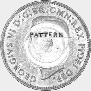 1951 Cupro-Nickel Pattern (obv tooled) Florin obverse