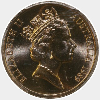 1989  One Cent obverse