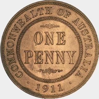 1911 Specimen Penny reverse