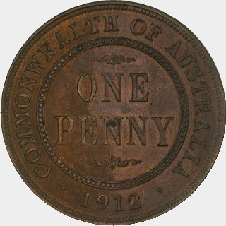 1912-H Specimen Penny reverse