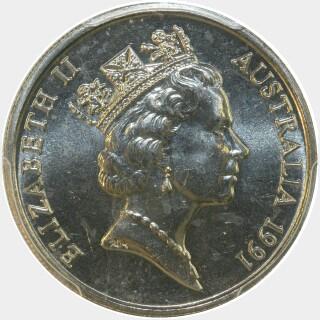 1991  Ten Cent obverse