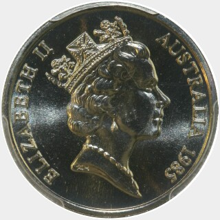 1985  Ten Cent obverse