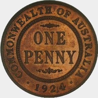 1924 Proof Penny reverse