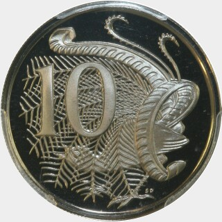 1970 Proof Ten Cent reverse