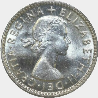 1954  Sixpence obverse