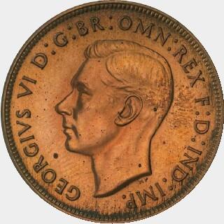 1945 Pattern Penny obverse