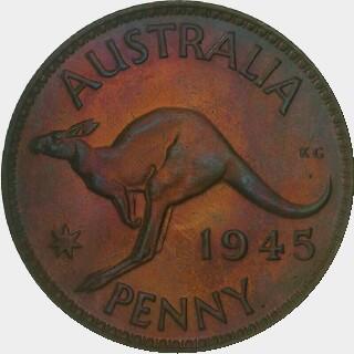 1945-Y Proof Penny reverse