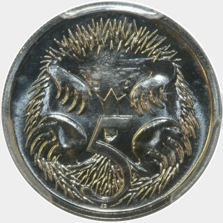 1990  Five Cent reverse