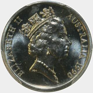 1990  Five Cent obverse