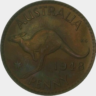 1948-Y Proof Penny reverse