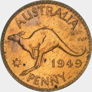 1949 Proof Penny reverse