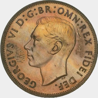 1949 Proof Penny obverse
