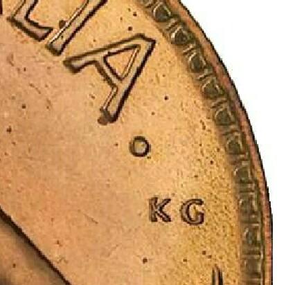 Dot mint-mark on a 1953-A Proof Penny.