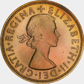 1953-A Proof Penny obverse