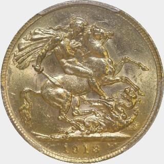 1913-P  Full Sovereign reverse