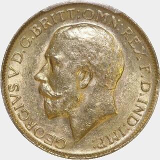 1913-P  Full Sovereign obverse