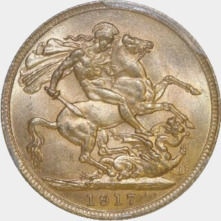 1917-P  Full Sovereign reverse