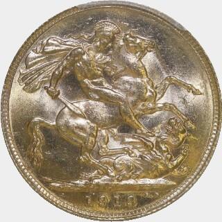 1919-P  Full Sovereign reverse