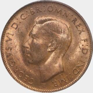 1943-I  Half Penny obverse