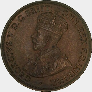1912-H Specimen Half Penny obverse
