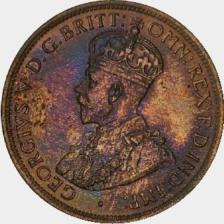 1911 Specimen Half Penny obverse