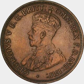 1916-I Specimen Half Penny obverse
