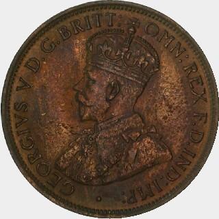 1919 Specimen Half Penny obverse