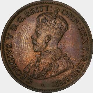1920 Specimen Half Penny obverse