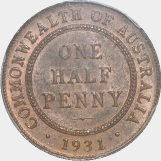 1931  Half Penny reverse