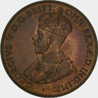 1923 Proof Half Penny obverse