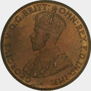 1924 Proof Half Penny obverse