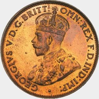 1925 Proof Half Penny obverse
