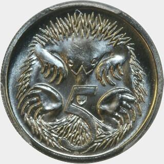 1991  Five Cent reverse