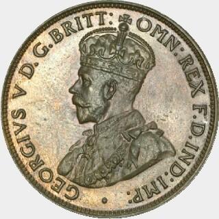 1930 Proof Half Penny obverse