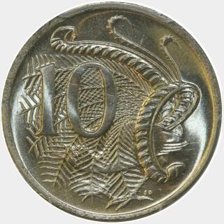 1974  Ten Cent reverse