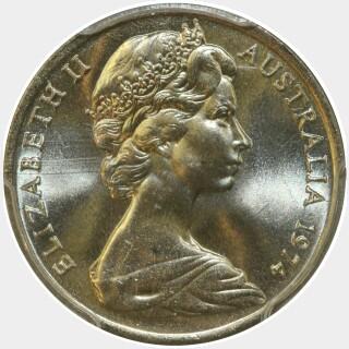1974  Ten Cent obverse