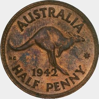 1942-Y Proof Half Penny reverse