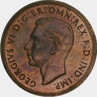 1942-Y Proof Half Penny obverse